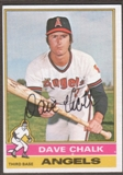 1976 Topps Baseball #52 Dave Chalk Signed in Person Auto
