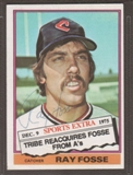 1976 Topps Baseball #554T Ray Fosse Signed in Person Auto (B)
