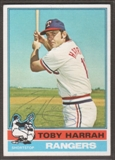 1976 Topps Baseball #412 Toby Harrah Signed in Person Auto