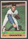 1976 Topps Baseball #213 Dave Heaverlo Signed in Person Auto