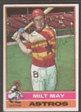 1976 Topps Baseball #532 Milt May Signed in Person Auto