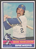 1976 Topps Baseball #626 Bob Sheldon Signed in Person Auto