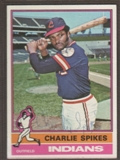 1976 Topps Baseball #408 Charles Spikes Signed in Person Auto (A)