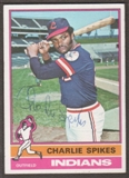 1976 Topps Baseball #408 Charles Spikes Signed in Person Auto