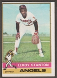 1976 Topps Baseball #152 Leroy Stanton Signed in Person Auto