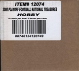 2008 Playoff National Treasures Football Hobby 3-Box Case 12074