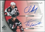 2005/06 Upper Deck SP Authentic Sign of the Times Duals #DDV Chris Drury Thomas Vanek