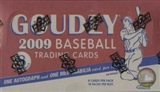 2009 Upper Deck Goudey Baseball Hobby Box