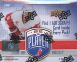 2008/09 Upper Deck Be A Player Signature Hockey Hobby Box