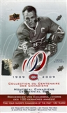 2008/09 Upper Deck Montreal Canadiens Centennial Hockey Hobby Box