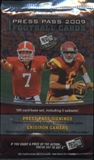 2009 Press Pass Football Hobby Pack