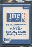 1985 Star Co. Basketball Miller Lite All-Stars Bagged Set