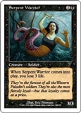 Magic the Gathering 7th Edition Single Serpent Warrior Foil