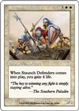 Magic the Gathering 7th Edition Single Staunch Defenders Foil