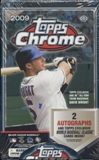 2009 Topps Chrome Baseball Hobby Box