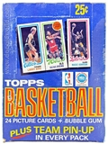 1980/81 Topps Basketball Wax Box