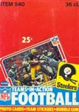 1980 Fleer in Action Football Wax Box