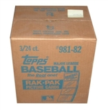 1982 Topps Baseball Rack 3-Box Case
