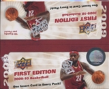 2009/10 Upper Deck First Edition Basketball 36-Pack Box
