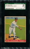 1933 Goudey Baseball #79 Red Faber SGC 80 (EX/MT 6) *1009