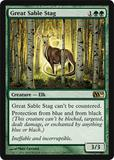 Magic the Gathering 2010 Single Great Sable Stag - NEAR MINT (NM)