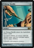 Magic the Gathering 2010 Single Pithing Needle - SLIGHT PLAY (SP)
