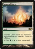 Magic the Gathering 2010 Single Sunpetal Grove - SLIGHT PLAY (SP)
