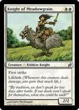 Magic the Gathering Lorwyn Single Knight of Meadowgrain UNPLAYED (NM/MT)