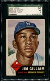 1953 Topps Baseball #258 Jim Gilliam Rookie SGC 60 (EX) *8059