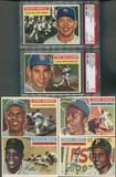 1956 Topps Baseball Complete Set (EX) Mantle Graded PSA 4 Williams is Graded PSA 5