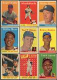 1958 Topps Baseball Complete Set (EX) With 3 PSA Graded Cards