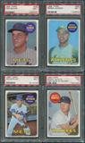 1969 Topps Baseball Complete Set 2 (NM) With 8 PSA Graded Cards
