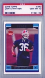 2006 Topps Football #340 Donte Whitner RC PSA 10 Gem Mint