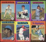 1975 Topps Baseball Near Complete Set (NM)