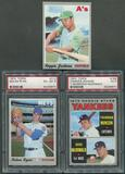 1970 Topps Baseball Complete Set (EX) With 4 PSA Graded Cards