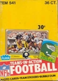 1981 Fleer in Action Football Wax Box