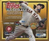 2009 Topps Updates & Highlights Baseball Jumbo Box