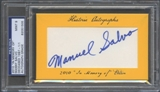 2010 Historic Autograph Baseball Manny Salvo Cut Auto #1/1