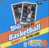 1992/93 Topps Series 2 Basketball Super Jumbo Box