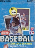 1982 Fleer Baseball Cello Box
