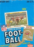 1982 Fleer in Action Football Wax Box (first Fleer Joe Montana!)