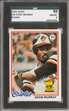 1978 Topps Baseball #36 Eddie Murray Rookie SGC 88 *8006