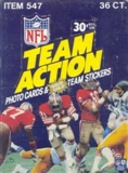 1983 Fleer in Action Football Wax Box