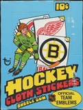 1974/75 Topps Cloth Stickers Hockey Wax Box