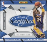 2009/10 Panini Certified Basketball Hobby Box