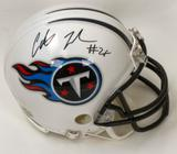 Chris Johnson Autographed Tennessee Titans Mini Helmet (Steiner)