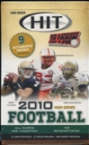 2010 Sage Hit High Series Football Hobby Box