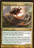 Magic the Gathering Worldwake Single Novablast Wurm - NEAR MINT (NM)