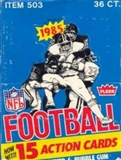 1985 Fleer in Action Football Wax Box