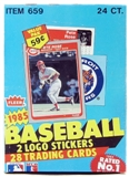1985 Fleer Baseball Cello Box